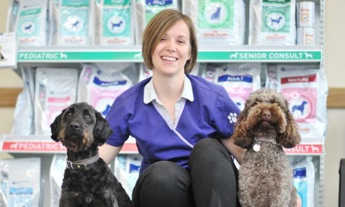 Philippa with two dogs