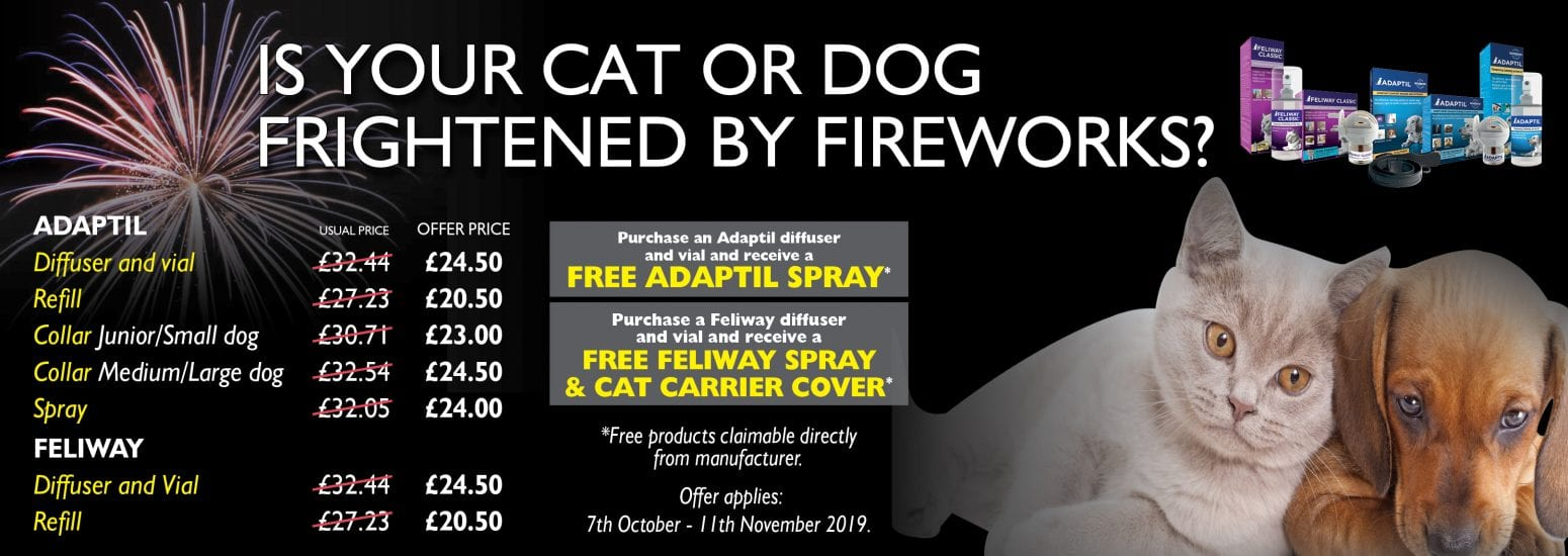 Discounted prices on adaptil and feliway